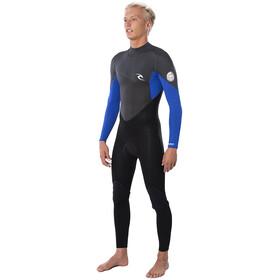 Rip Curl Omega 3/2 ES Steamer L/S Back Zip Wetsuit Men blue
